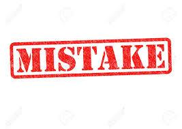 اشتباهات